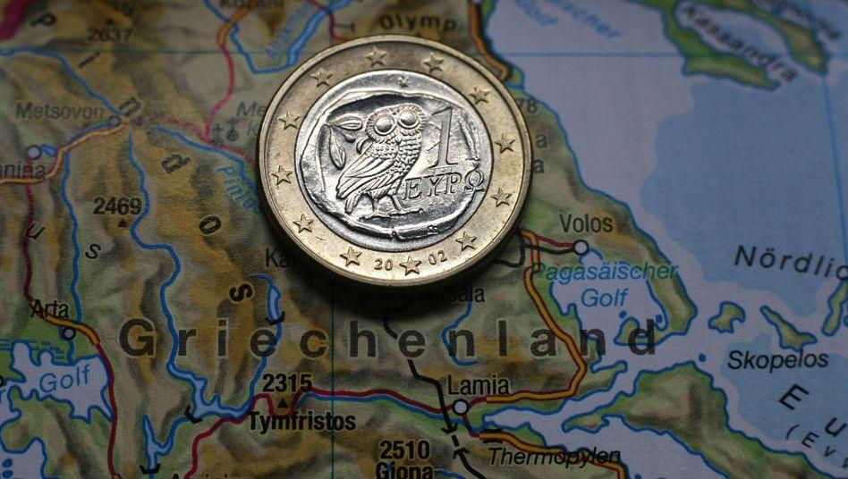 Griechische Ein-Euro-Münze (Symbolbild)