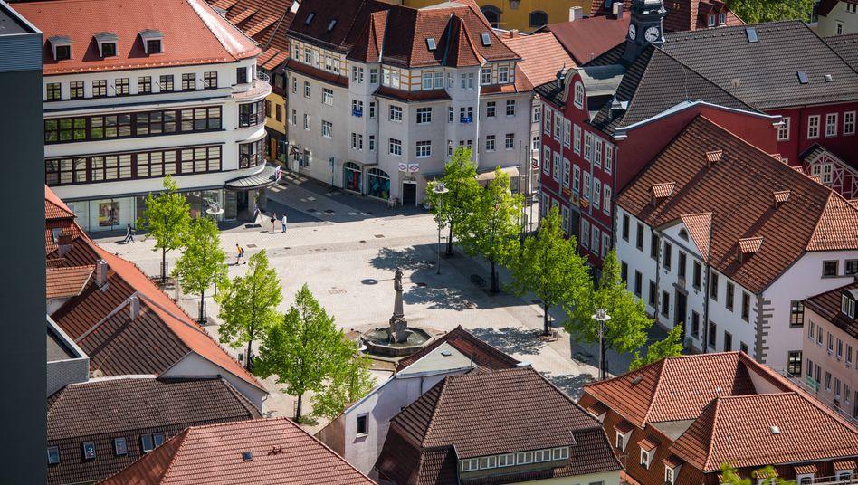 Die Innenstadt von Suhl in Thüringen