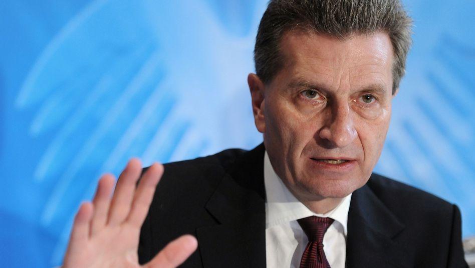 EU-Energiekommissar Oettinger: Warnung vor zu viel Klimaschutz