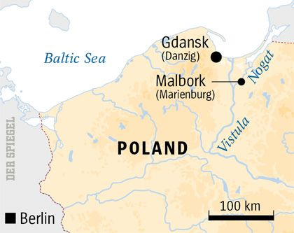 Map of Malbork area