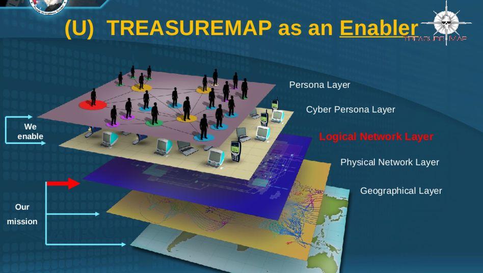 Folie aus einer internen NSA-Präsentation: SPIEGEL ONLINE veröffentlicht die Dokumente