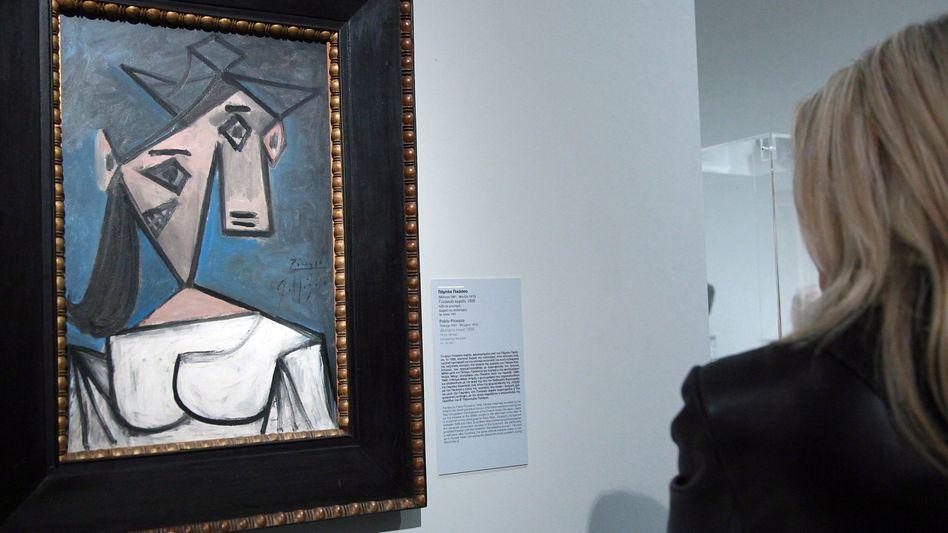 Picasso-Werk »Frauenkopf« vor dem Raub im Jahr 2012