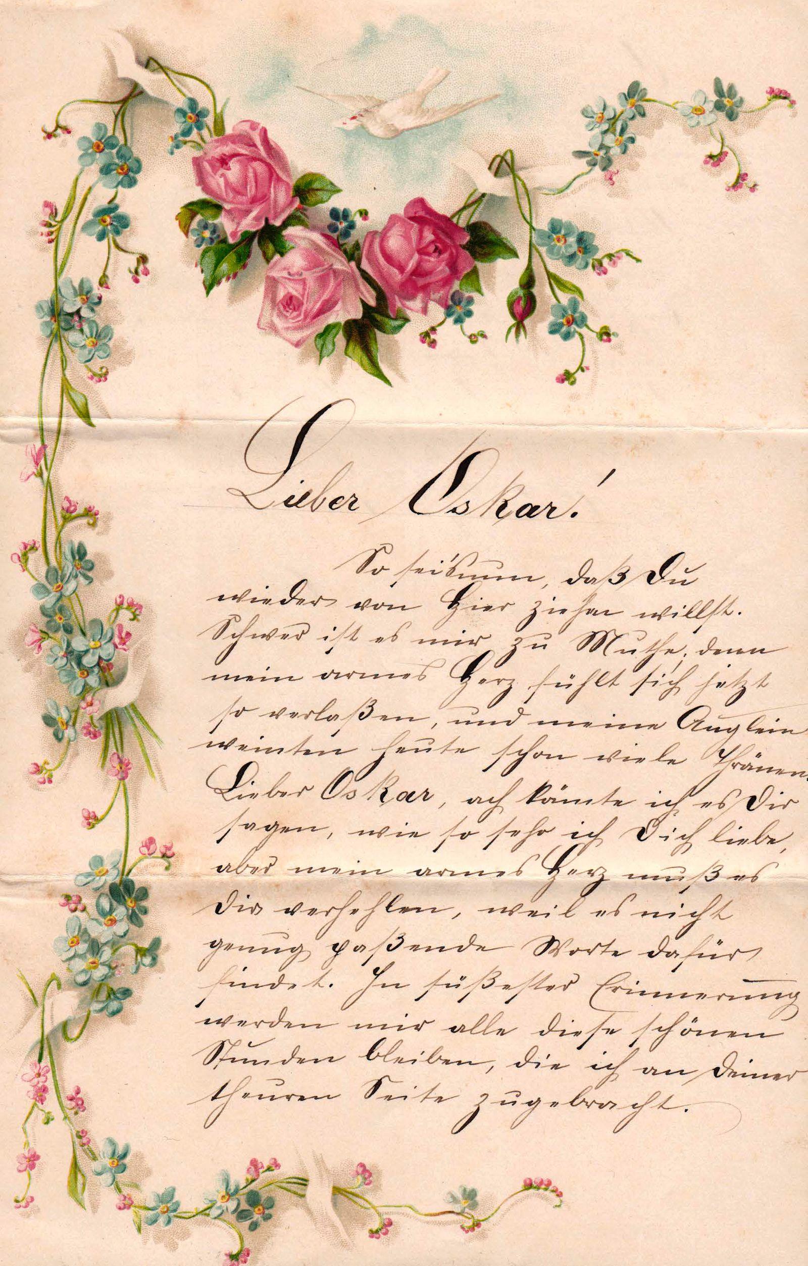 Ihn für schöne liebesbriefe Romantische Liebeserklärungen