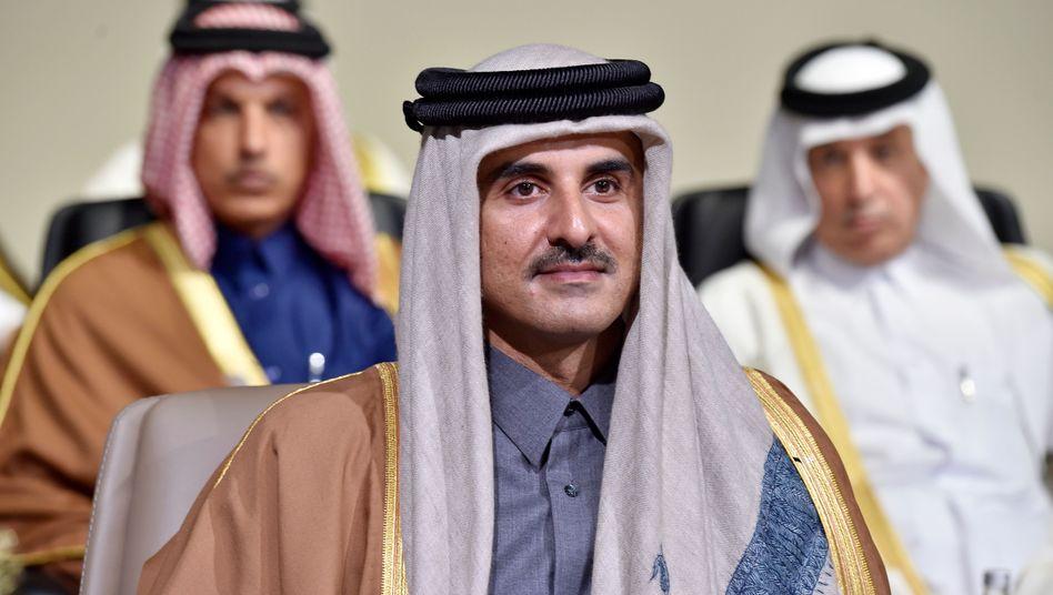 Katars Scheich Tamim bin Hamad Al-Thani (Archivbild)