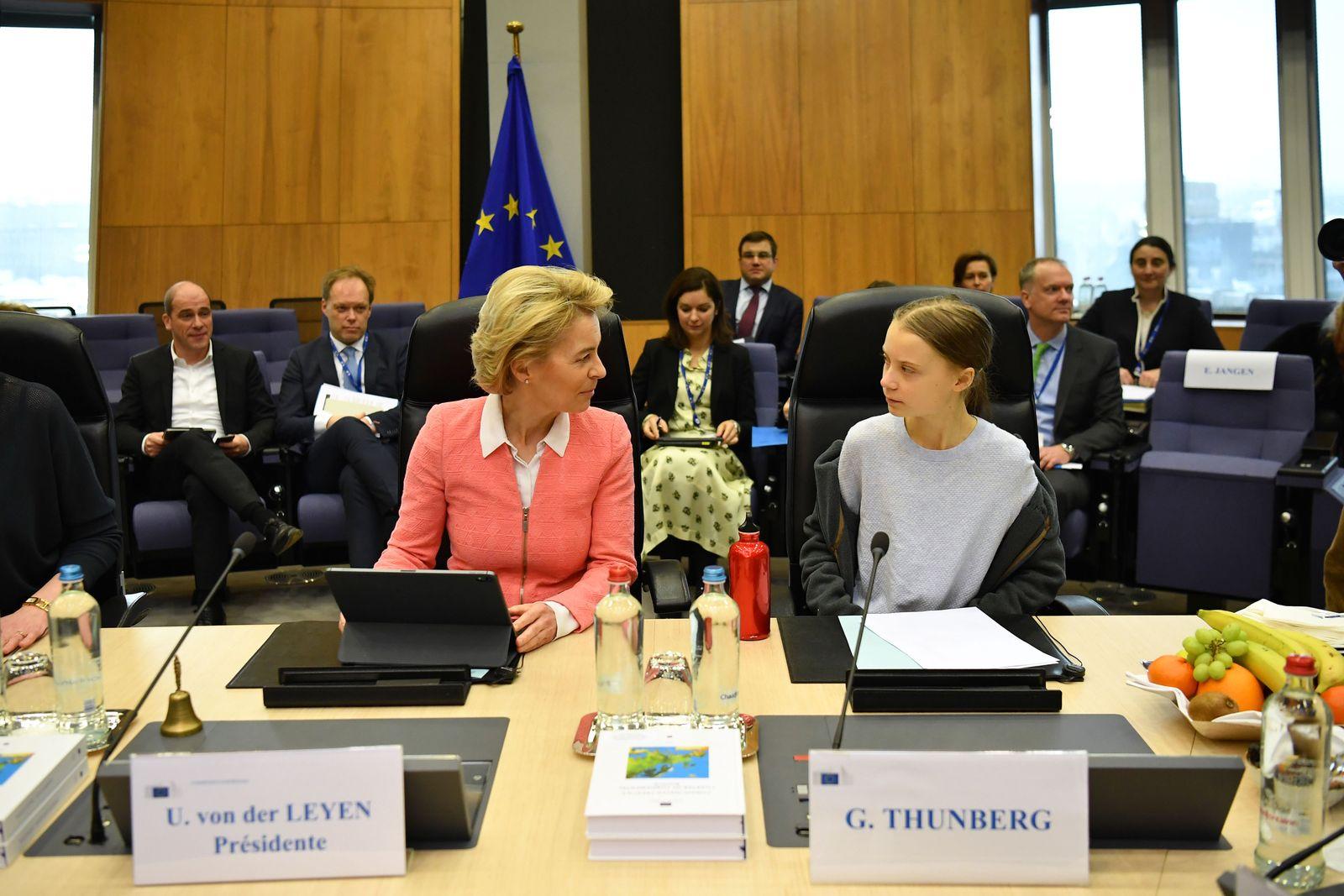 Greta Thunberg Meets European Commission President To Announce EU Climate Deal