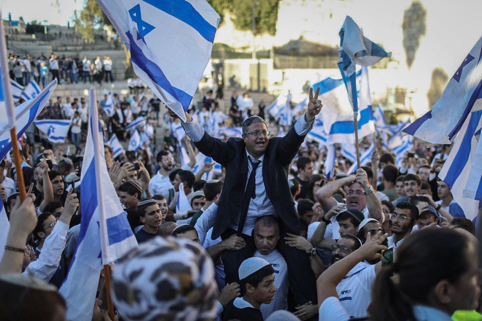 Flaggenmarsch in Jerusalem