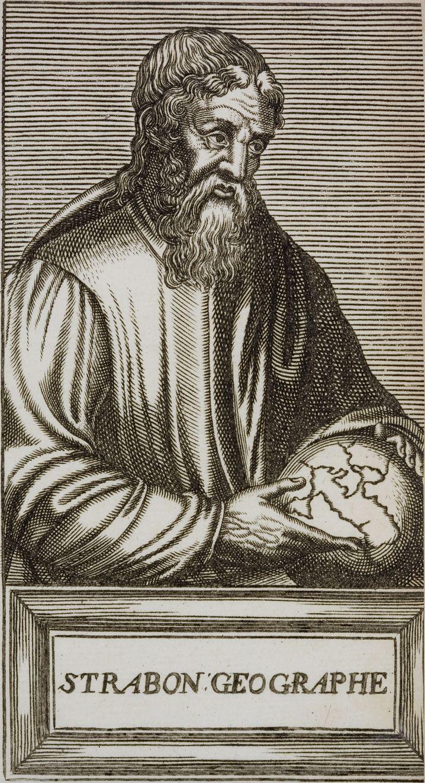 """Griechischer Geograf Strabon (Druck von 1585): """"Jedes Tier stirbt auf der Stelle"""""""