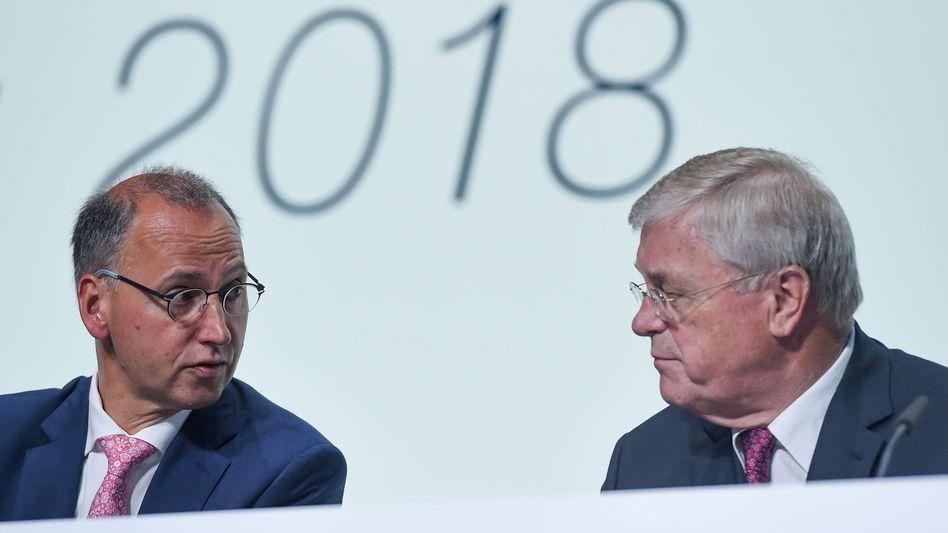 Bayer-Spitze: Werner Baumann und Werner Wenning