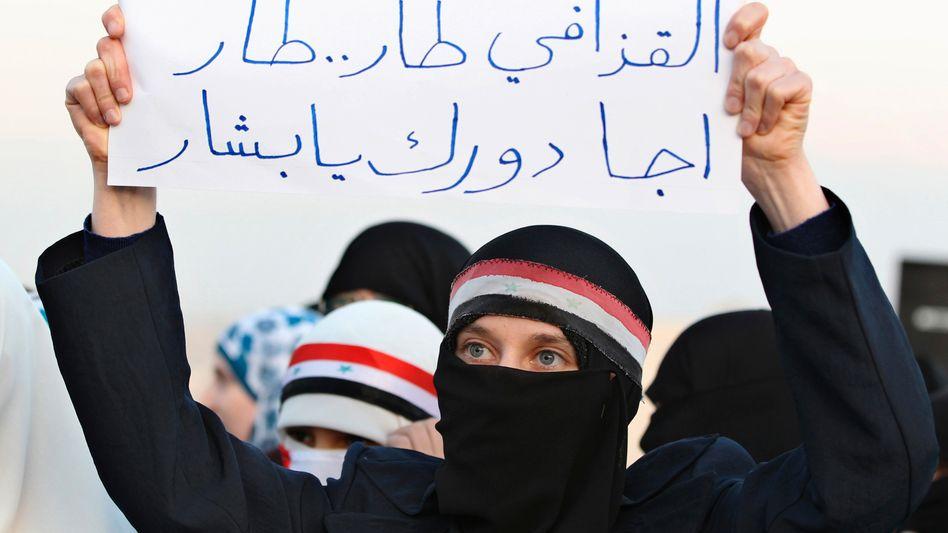 """Demonstranten in Syrien: """"Jetzt bist du dran, Baschar!"""""""