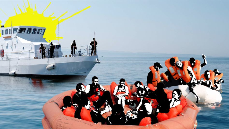 Abandoned: The Greek Coast Guard leaves refugees to their own devices on the Aegean.