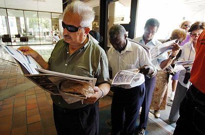In Miami mussten die Leute Schlange stehen, um ihre Stimme abzugeben