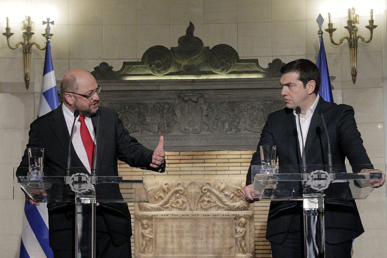 European Parliament President Martin Schulz visits Greece schul