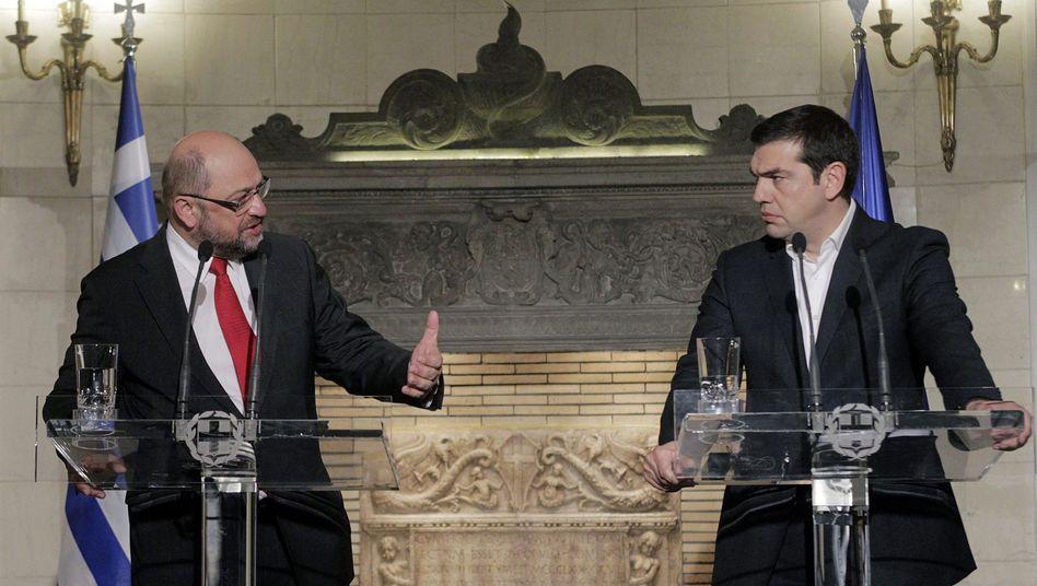 """Schulz, Tsipras in Athen: """"Griechenland muss alles ihm Mögliche tun"""""""