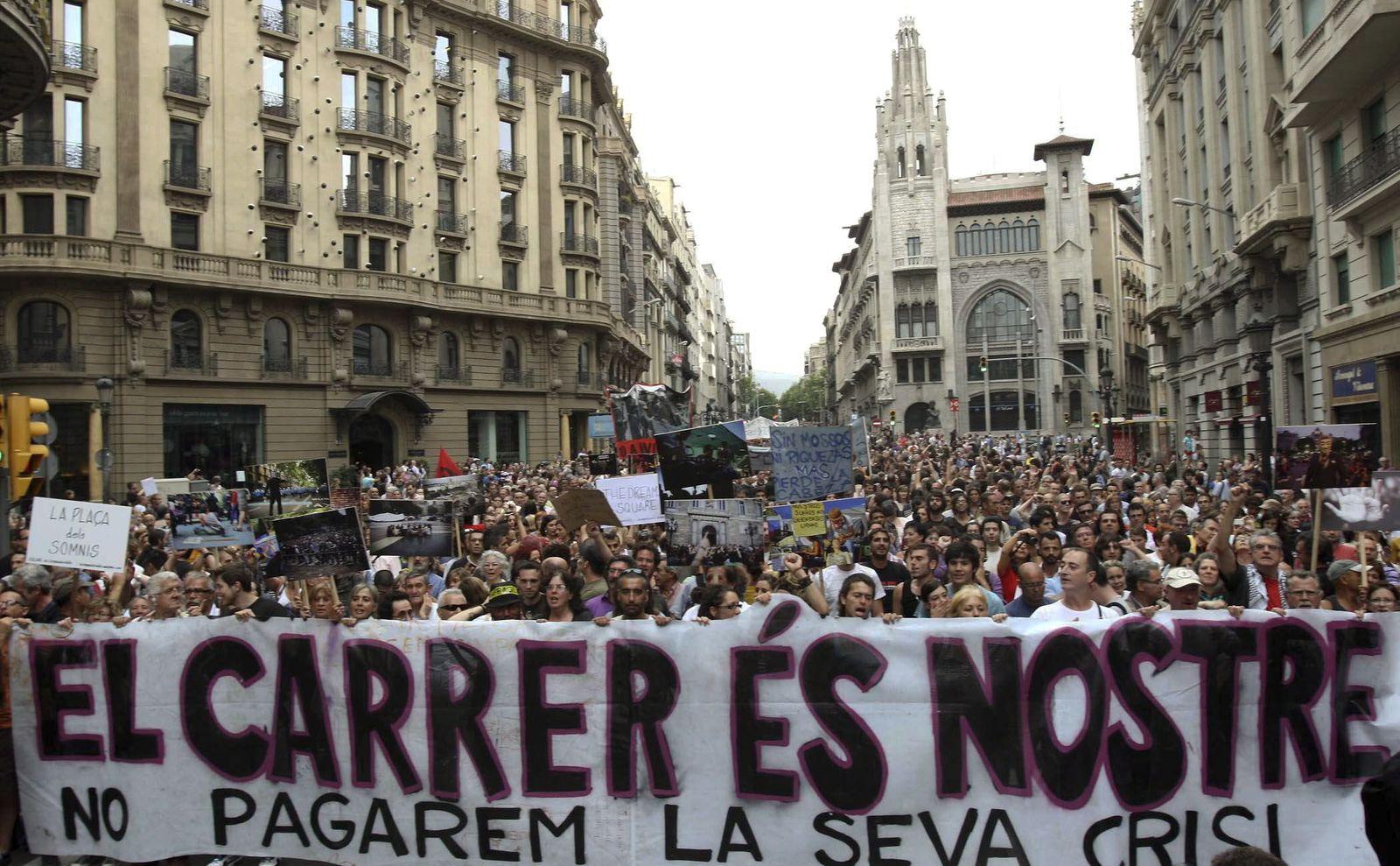 Spanien/ Proteste XXL