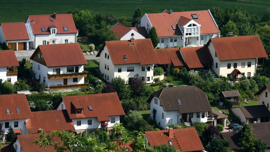 Neubausiedlung am Stadtrand von Heldburg (Archivbild): »Man muss den Flächenverbrauch reduzieren«