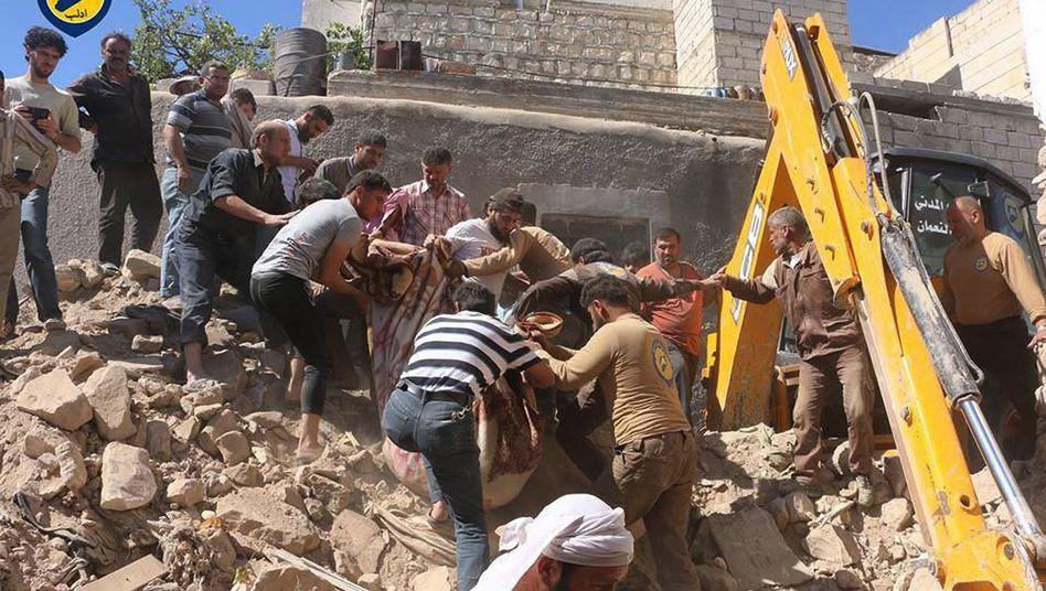 Helfer in Idlib