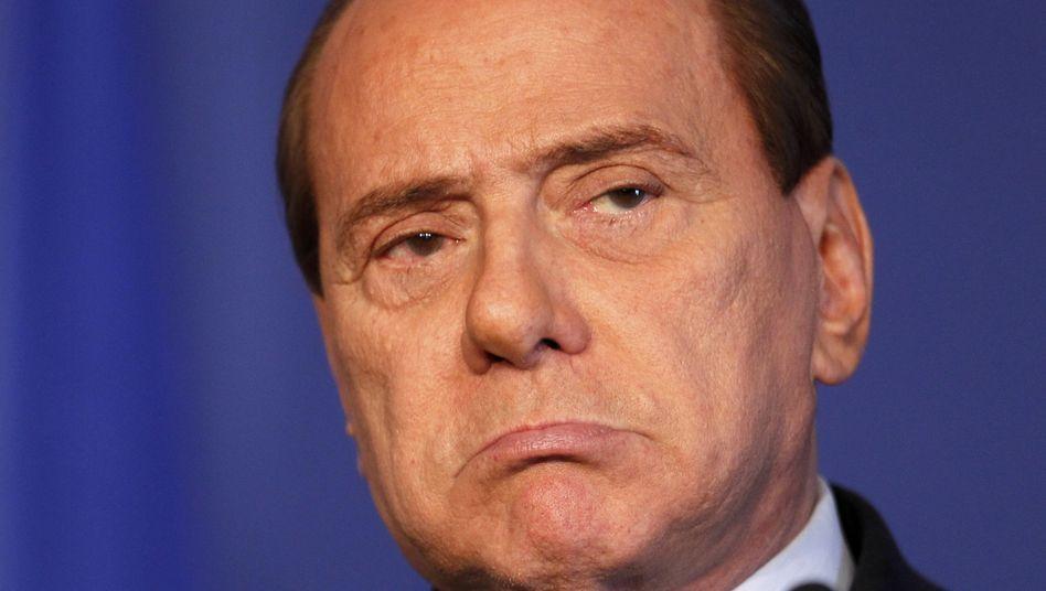 Angeschlagener Regierungschef Berlusconi: Ratlos in der Krise
