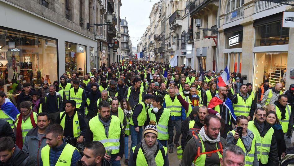 Gelbwesten-Demonstranten in Bordeaux