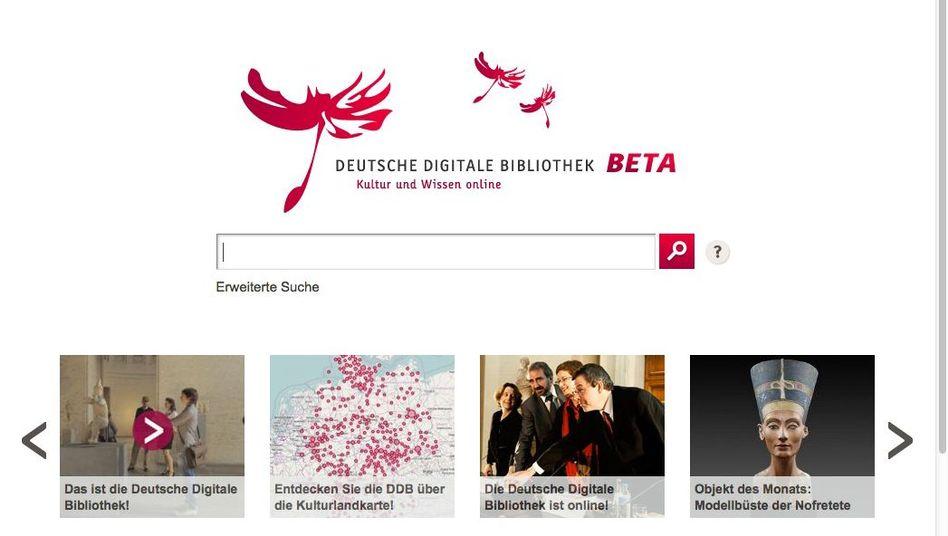"""Deutsche Digitale Bibliothek: Derzeit noch """"beta"""""""