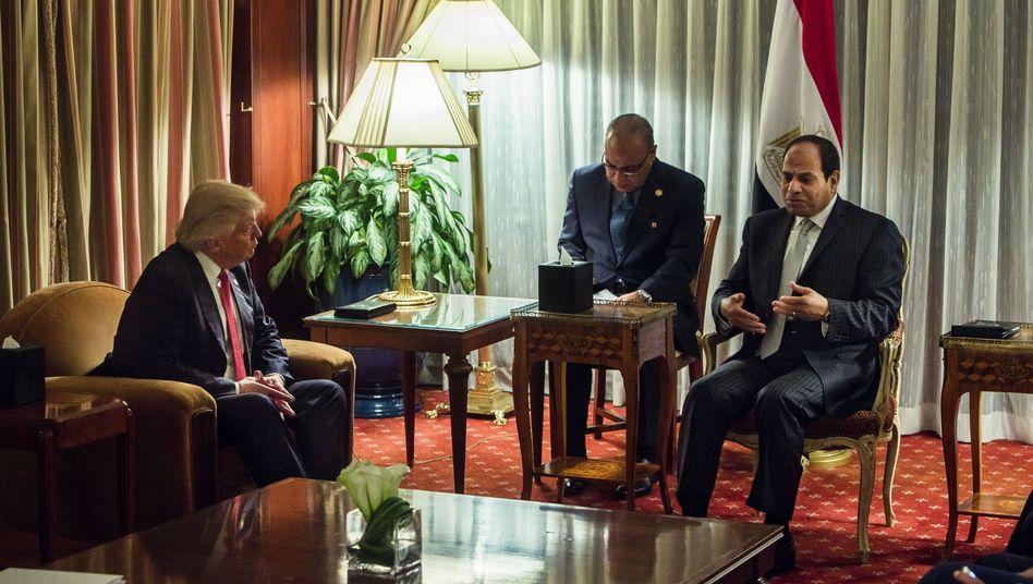 Donald Trump und Abdel Fattah el-Sisi (im September 2016 in New York)