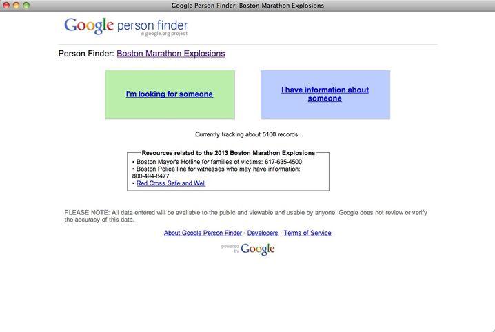 Google Person Finder: Menschen finden oder Informationen über sie eintragen