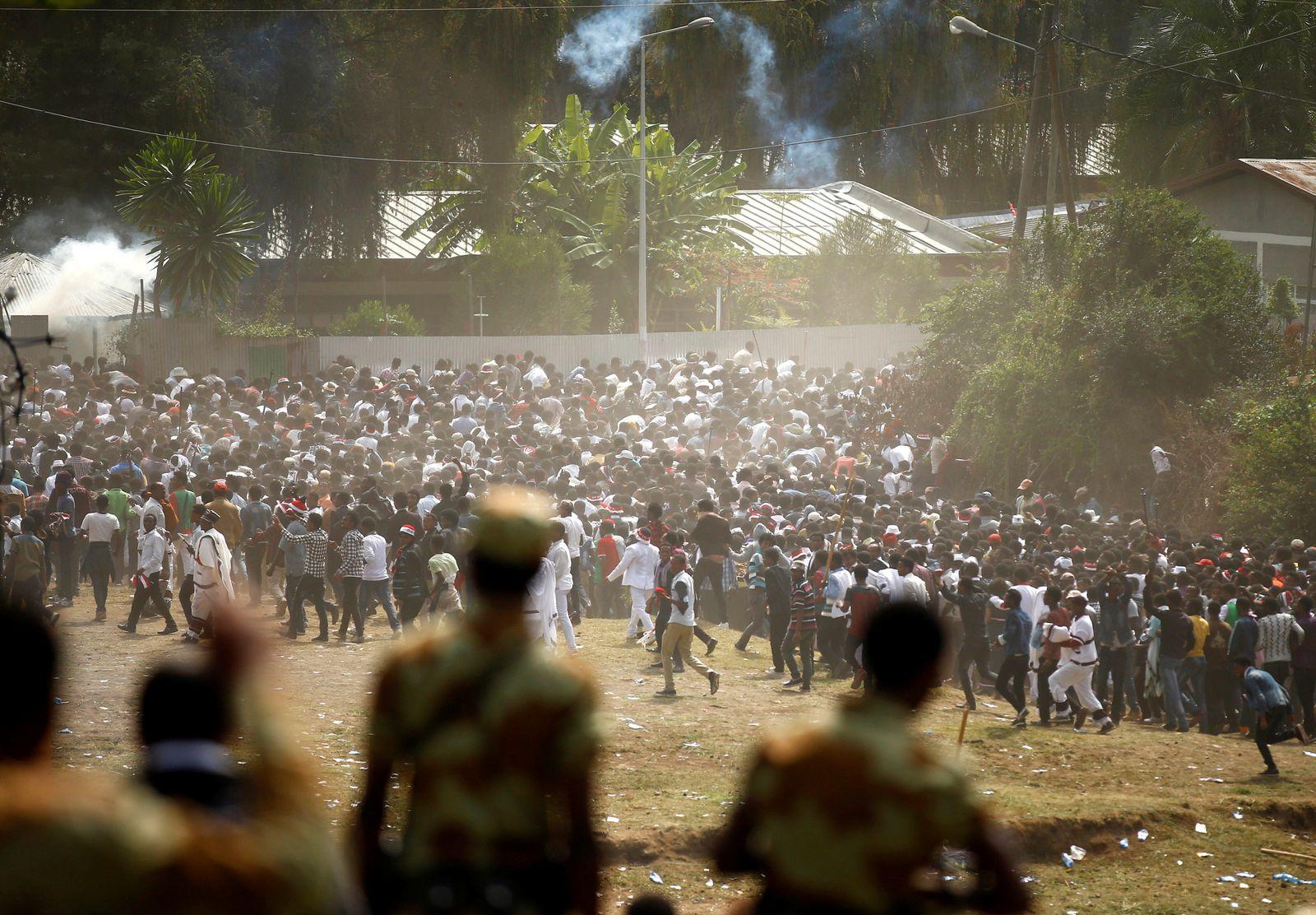 Äthiopien Massenpanik