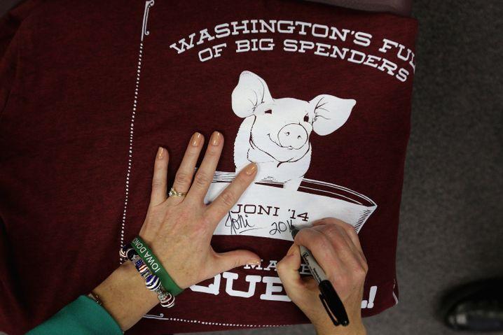 Ferkeleien in Iowa: Wahlkampf-T-Shirt für die Republikanerin Joni Ernst