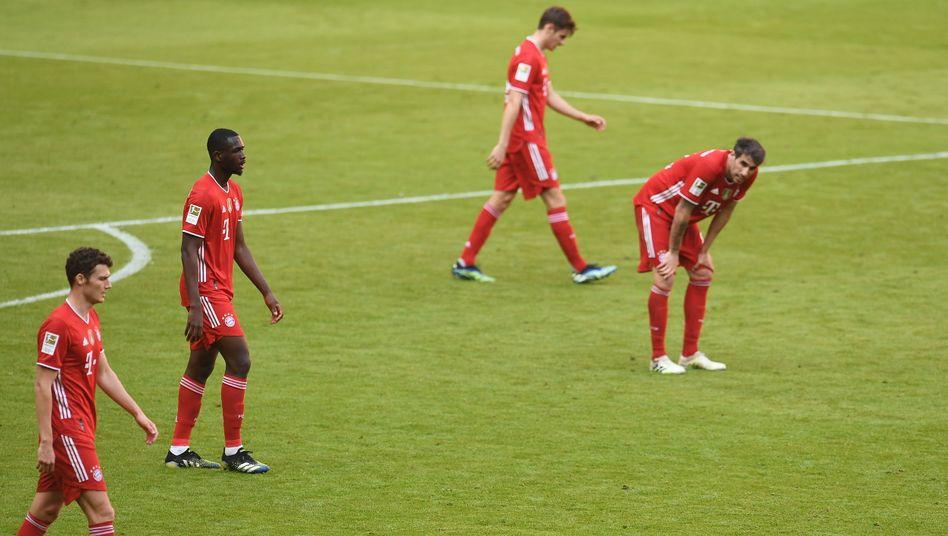 Bayern-Profis während des Spiels gegen Union Berlin