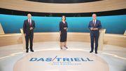 So lief das zweite TV-Triell zwischen Baerbock, Laschet und Scholz