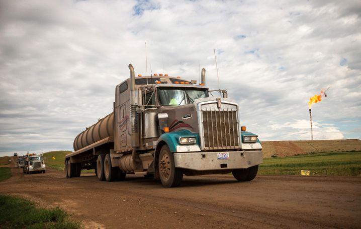 Tanklaster in North Dakota: Der Boom hat viele Jobs geschaffen