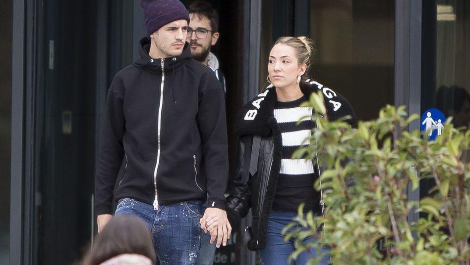 Álvaro Morata mit seiner Frau Alice im Januar 2019 in Madrid