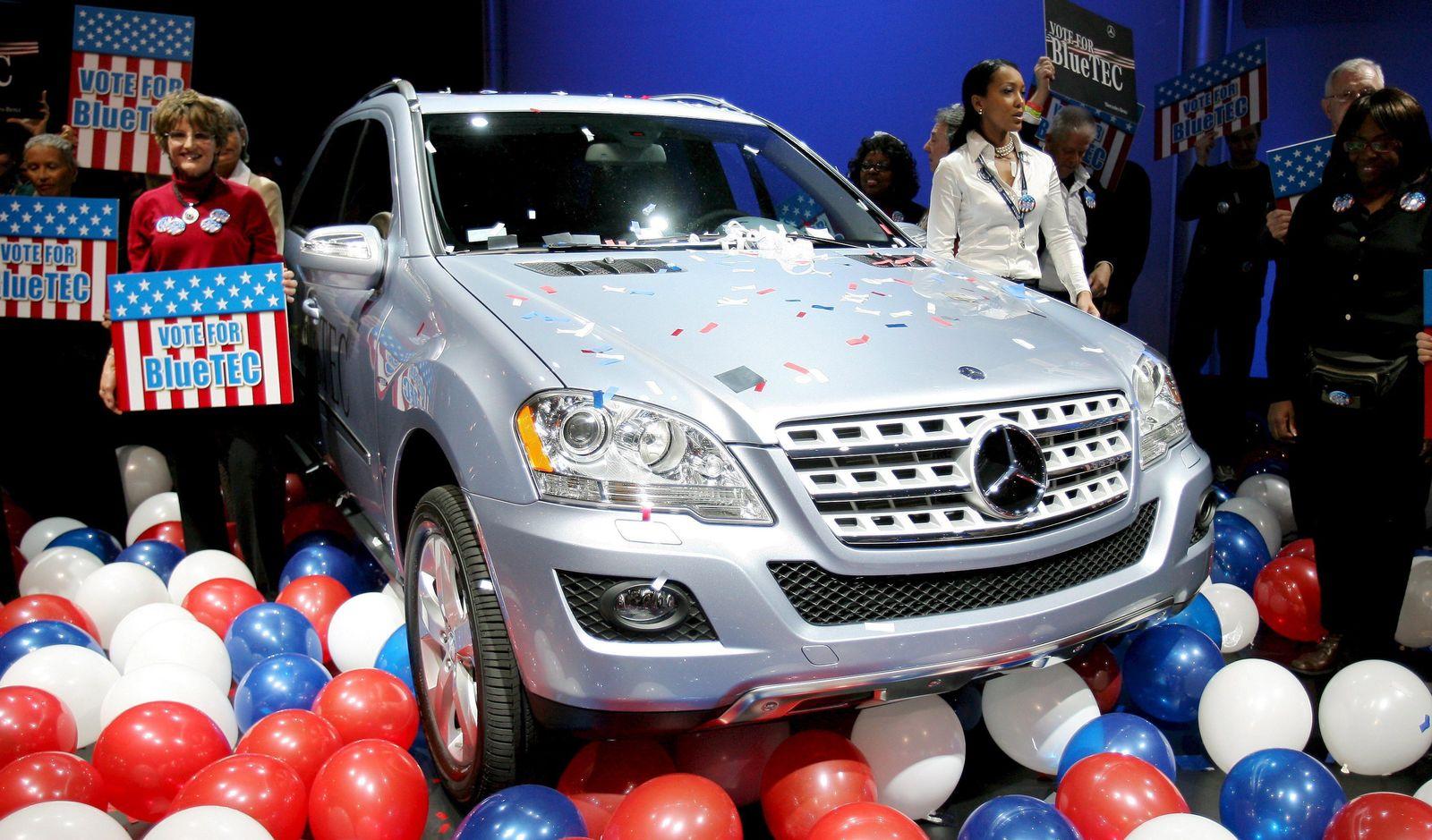 Mercedes-Benz ML320 Bluetec auf New Yorker Automobilsalon