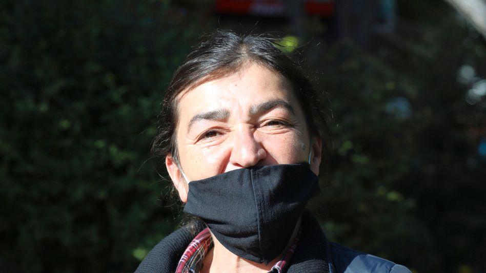 Journalistin Müyesser Yildiz (Foto von Mitte Mai)
