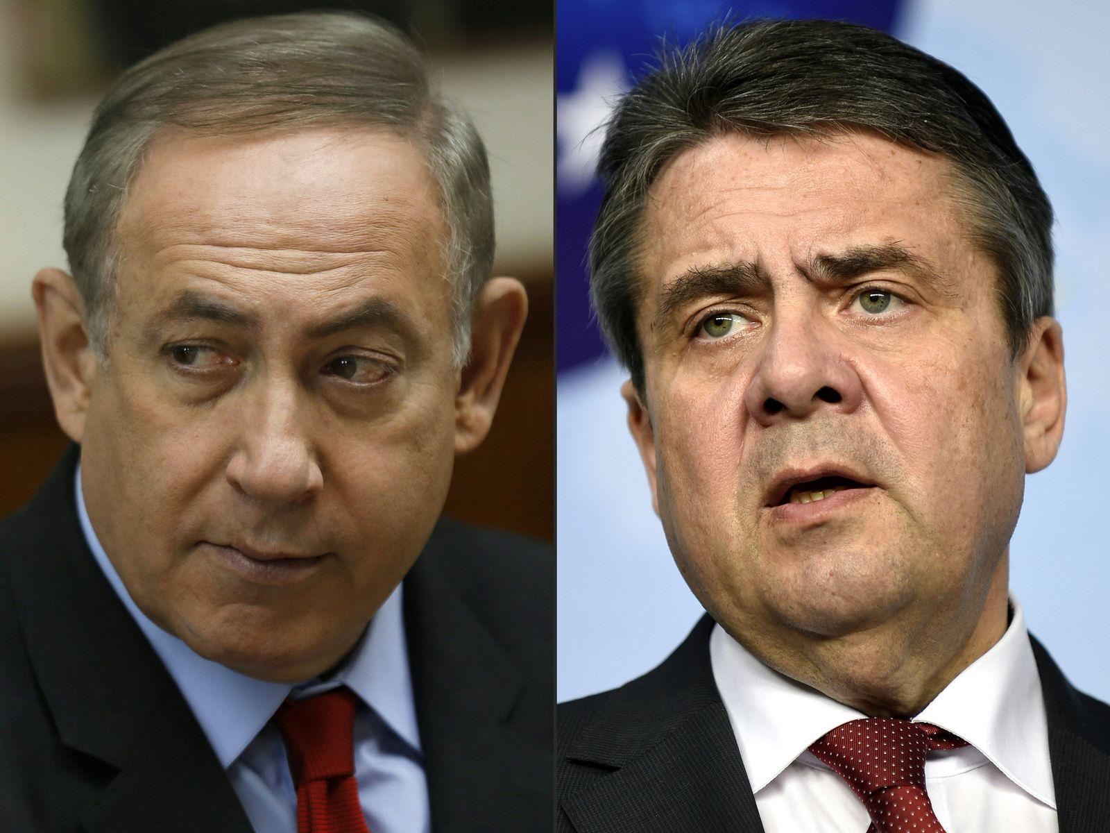 Benjamin Netanyahu / Sigmar Gabriel KOMBO