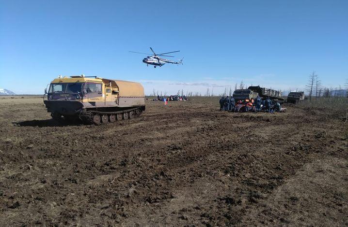 Aufräumarbeiten schädigen den Boden der Tundra