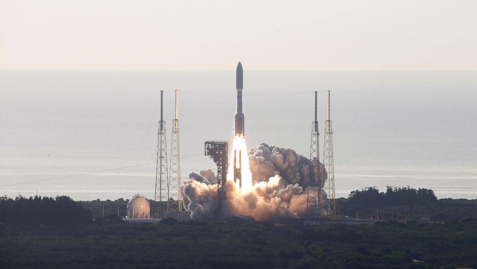 Cape Canaveral: Der Raketenstart gelang pünktlich auf die Minute