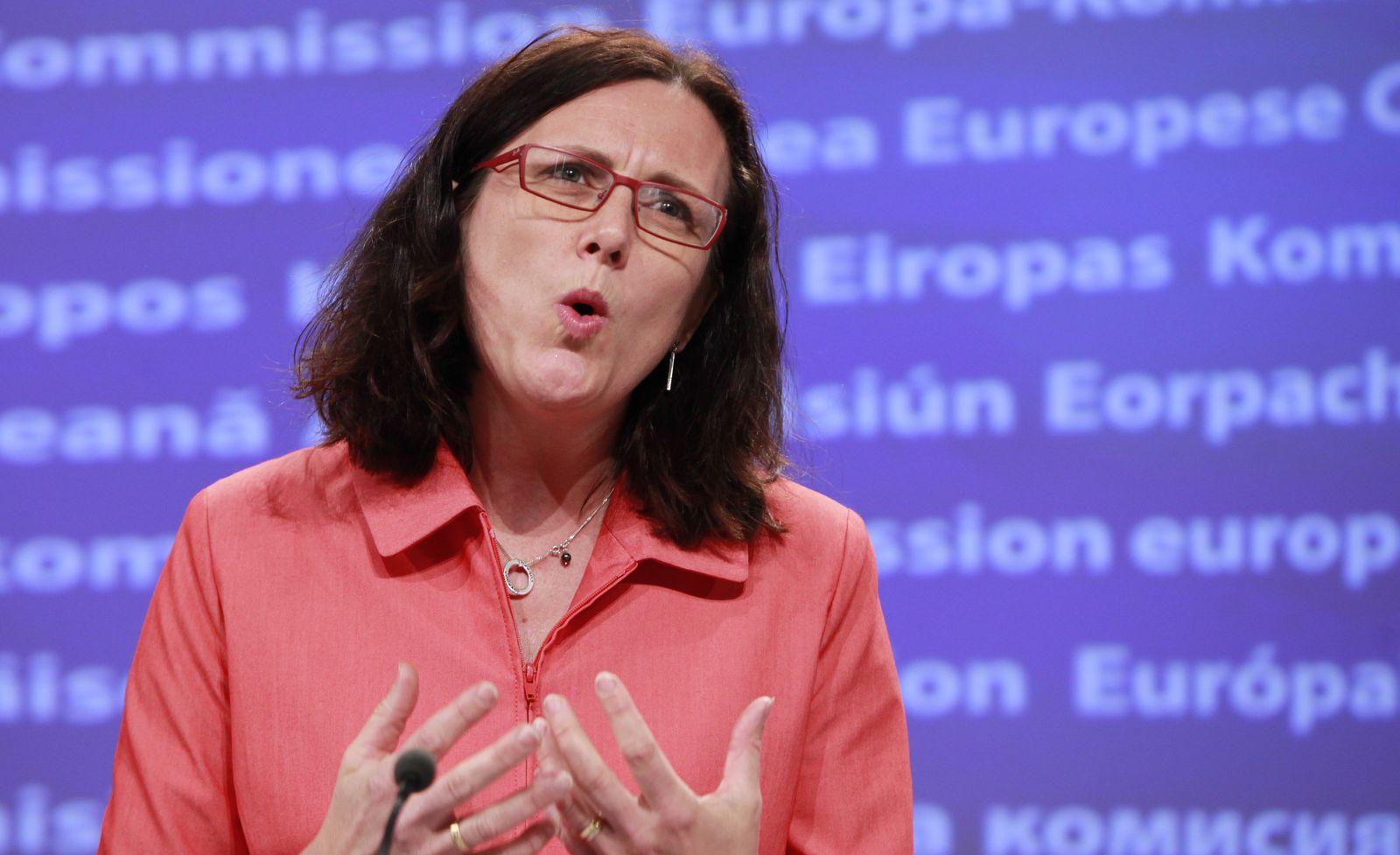 European home affairs Commissioner, Swedish, Cecilia Malmstrom