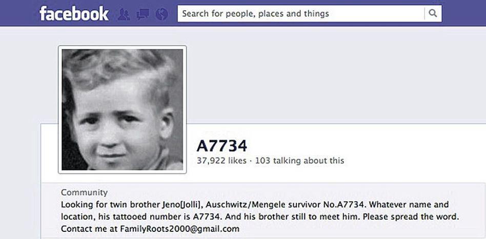 Suchanzeige bei Facebook