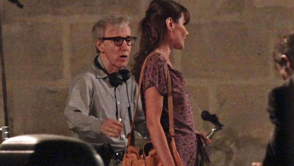 """""""Midnight in Paris"""": Carla Bruni-Sarkozy bei den Dreharbeiten mit Woody Allen"""