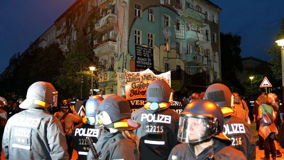 Berlin-Friedrichshain: Randale um die Rigaer