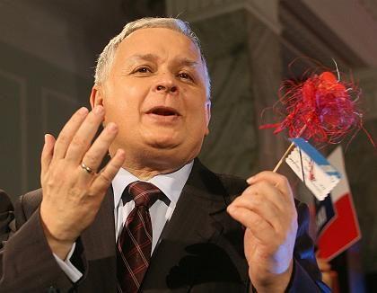 Lech Kaczynski was elected president of Poland on Sunday.
