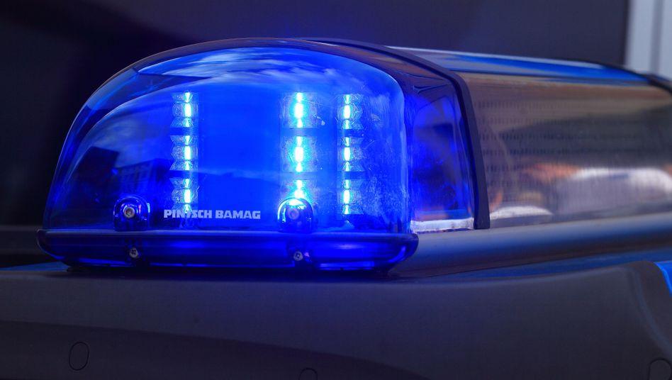 Das Blaulicht eines Funkstreifenwagens (Symbolbild)