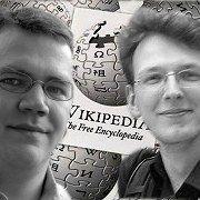 Arne Klempert (links) ist Geschäftsführer von Wikimedia Deutschland e.V., Mathias Schindler Mitglied des Vorstands