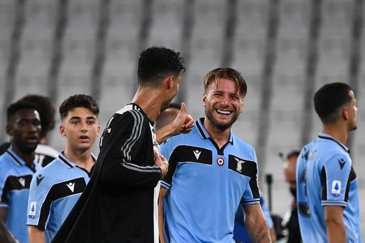 Ronaldo und Immobile (v.l.): Die Meisterschaft ist schon so gut wie entschieden, aber wer wird Italiens Torschützenkönig?