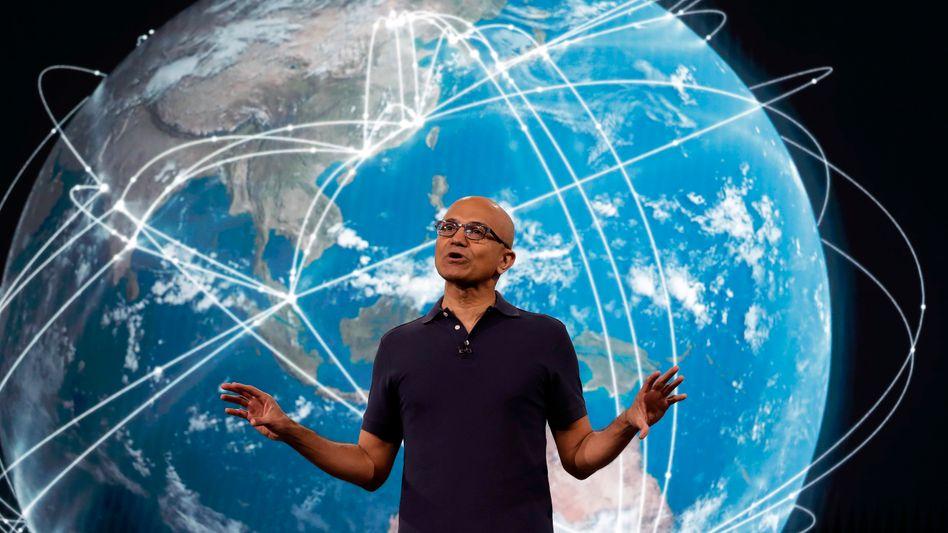 Microsoft-CEO Satya Nadella eröffnet die Build 2019