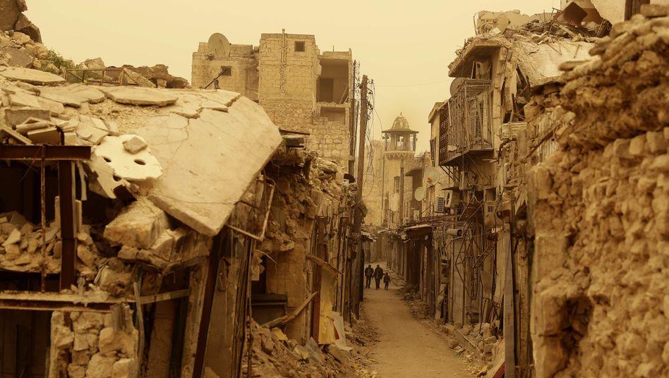 Aleppo (Archivbild von einem Sandsturm am 10 März 2017)