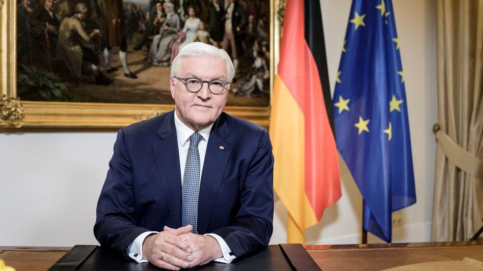 Frank-Walter Steinmeier am Samstag im Schloss Bellevue