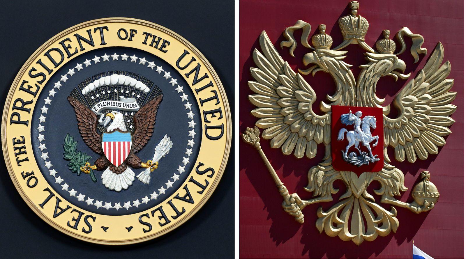 Presidentenwappen USA / Russia
