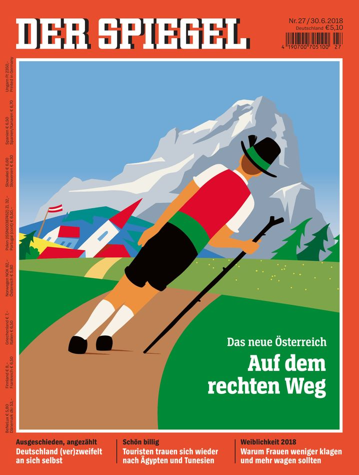 This feature appeared as DER SPIEGEL's cover story in Austria.