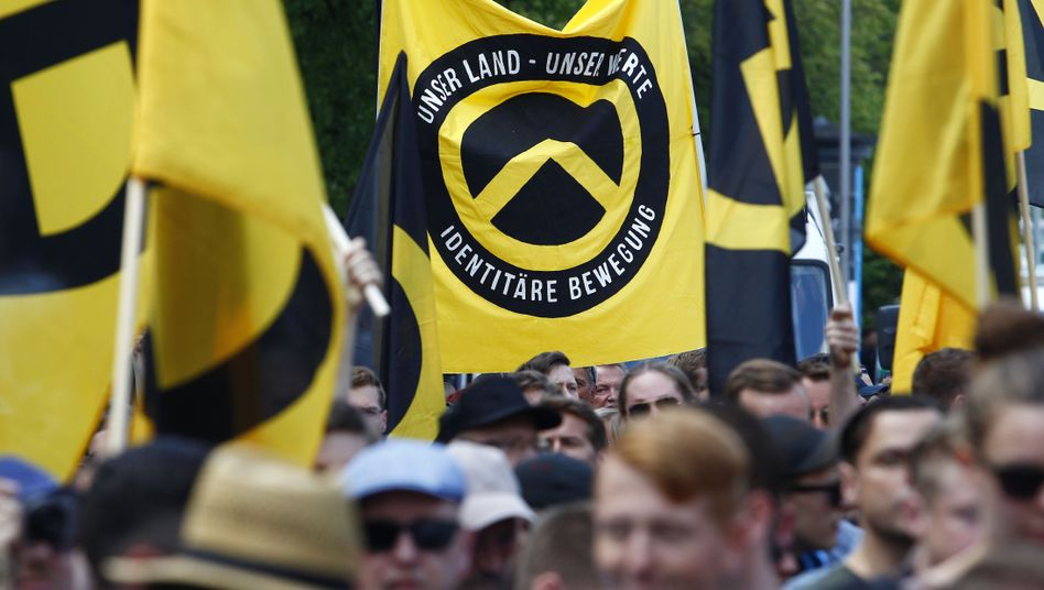 Demonstration der Identitären Bewegung in Berlin (Archivbild)